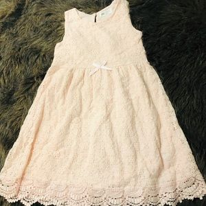 H&M Girls Pink Lace Dress